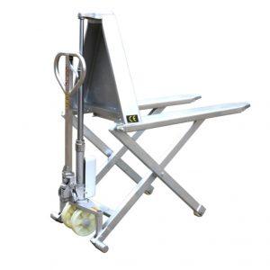 Transpallet a pantografo con struttura in acciaio inossidabile HSG540M